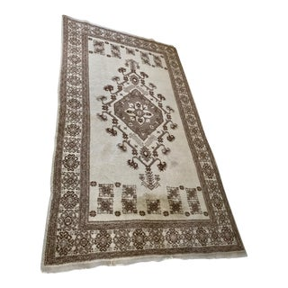 Handwoven Natural Color Wool Rug From Turkey - 6' x 9'