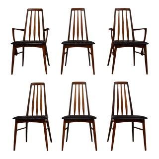 Kofoeds Hornslet Teak Eva Dining Chairs- Set of 6