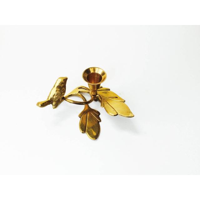 Image of Vintage Brass Songbird Candleholder