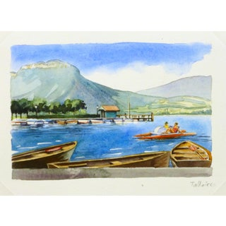 Original French Lake Watercolor
