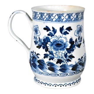 Circa 1760-70Bow Porcelain Chinoiserie Underglaze Blue Baluster Tankard