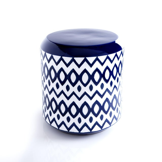 Cobalt Blue Ceramic Garden Stool Chairish
