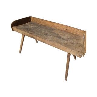 Antique Abattoir Wood Butcher Block Table
