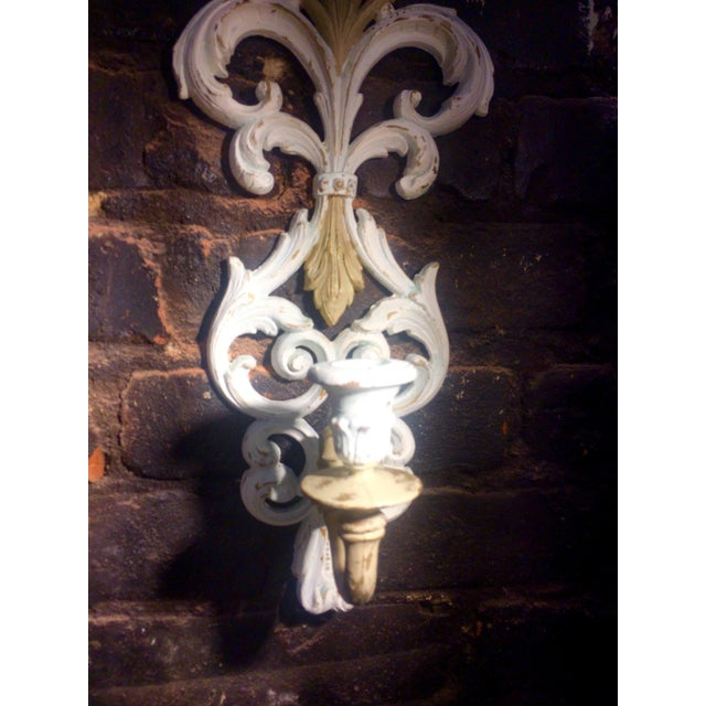 Wall Clock and Candle Sconces - Set of 3 - Image 6 of 7