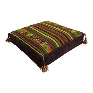 Handmade Wool Turkish Floor Pillow Cover