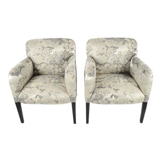 "Stunning Pair of Angelo Donghia ""Norway"" Club Chairs in Donghia ""Edith"" Fabric"