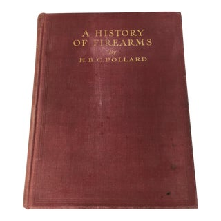 Vintage Red Bound Book - A History of Firearms