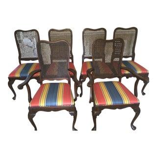 Ethan Allen Georgian Court Cherry Dining Chairs - Set of 6