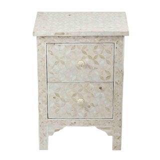 White Bone Inlay 2-Drawer Dresser