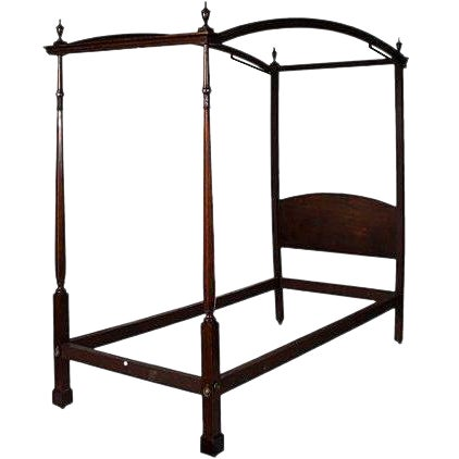 English Canape Twin Bed Circa 1880 - Image 1 of 2
