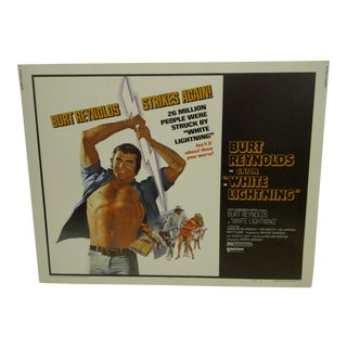 "1973 Vintage Movie Poster of Burt Reynolds as ""Gator"" in ""White Lightning"""