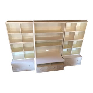 Center Section of Pottery Barn Kids Media Wall Unit