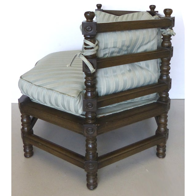 Image of Traditional Hexagonal Club Chairs - A Pair