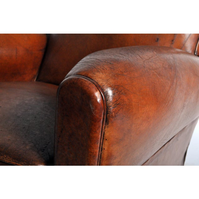 Art Deco Leather Club Chair - Image 9 of 11