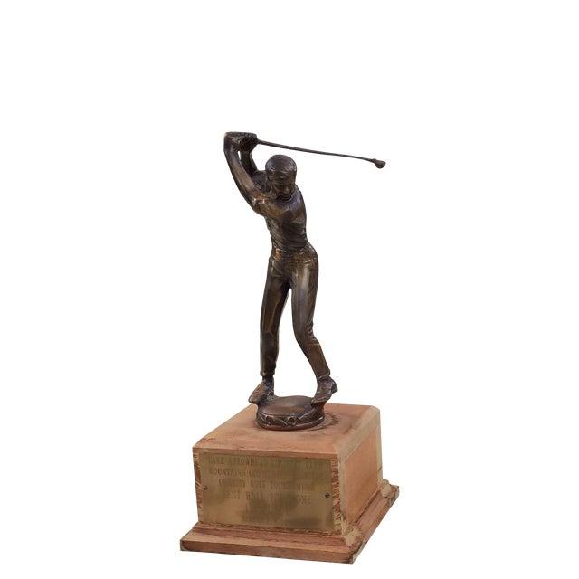 1970's Men's Golf, Women's Bowling Trophies-A Pair - Image 2 of 12