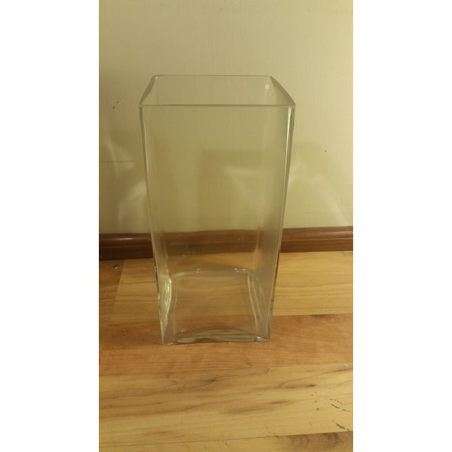Rectangular Glass Vase - Image 2 of 5
