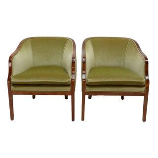 Ward Bennett Mohair Club Chairs - Pair