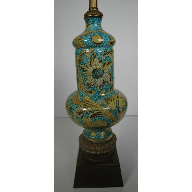 Image of Blue Porcelain Lamp