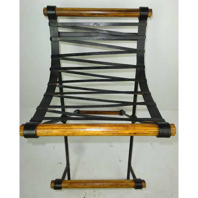 Iron and Oak Bar Stool by Cleo Baldon for Terra - Image 6 of 7