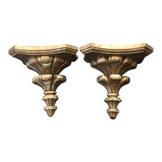Vintage Neoclassical Wall Brackets - A Pair