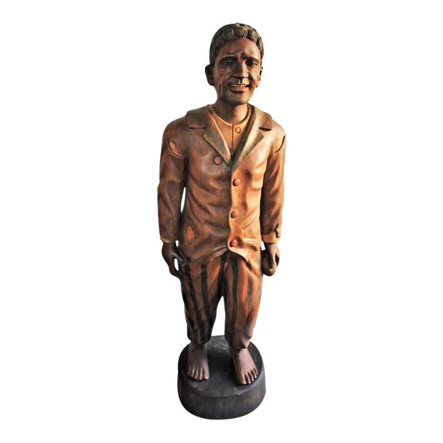 Hand-Carved and Painted 19th Century Cigar Store Figure - Image 1 of 10