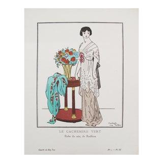 1912 Gazette du Bon Ton Fashion Plate, Cachemire Vert