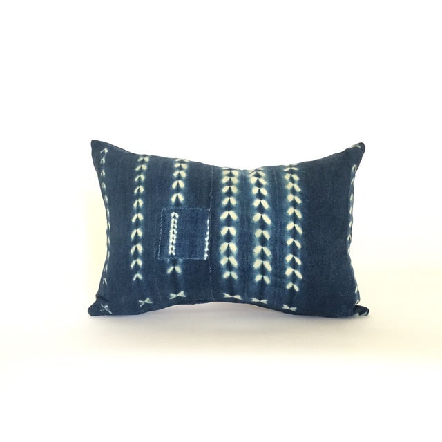 Vintage African Indigo Pillow - Image 2 of 4