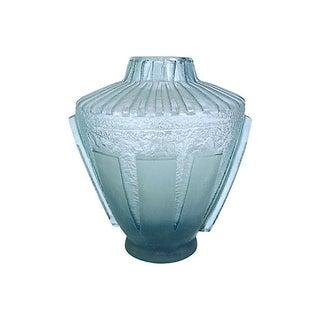 Art Deco Daum Geometric Etch Glass Vase