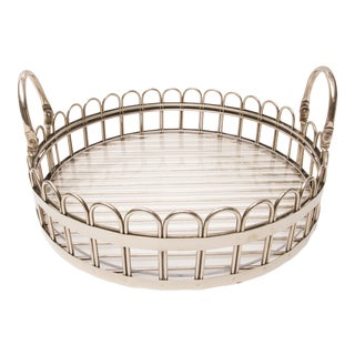 Godinger Silver-Plated Round Serving Tray