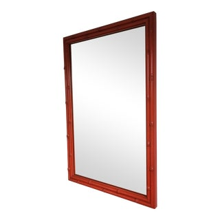 Vintage Faux-Bamboo Mirror