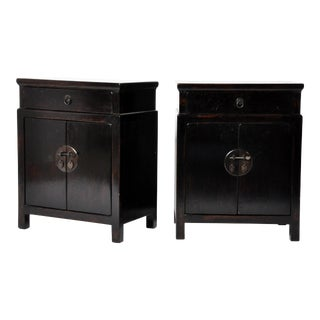 Pair of Chinese High-Waisted Cabinets