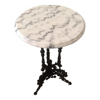 Marble and Cast Iron Side Table Set