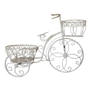 Vintage Metal Bicycle Plant Rack
