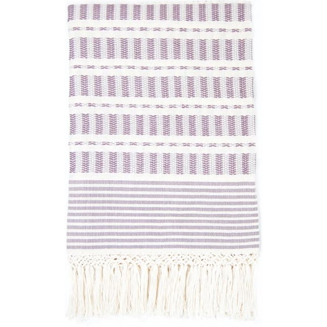Mauve Handwoven Mexican Throw - Image 1 of 6