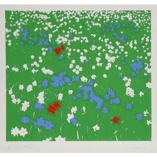 """Nadine Prado, """"Flower Field 5,"""" Serigraph"""
