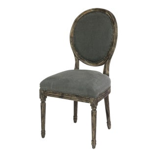 Sarreid LTD Gray Linen 'Spa Chair'
