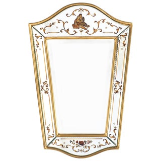 French Vintage Eglomisé Mirror