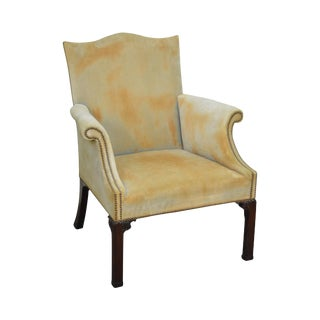 Saybolt Cleland Mahogany Chippendale Style Library Arm Chair