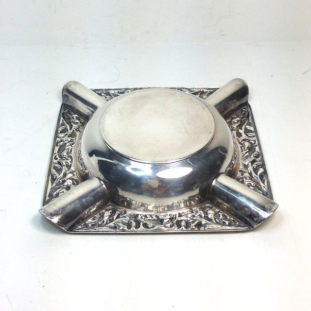 Image of Holland-America Line Vintage 1980s Silver Ashtray