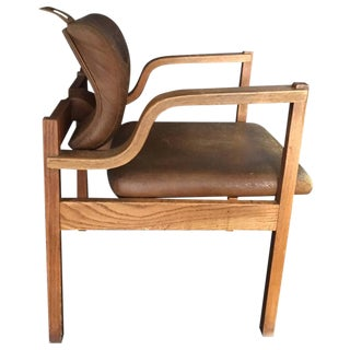 Mid-Century Oak Bentwood Side Chair