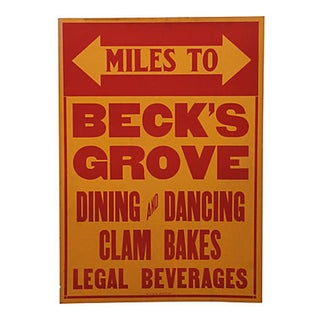 Vintage Beck's Grove Sign