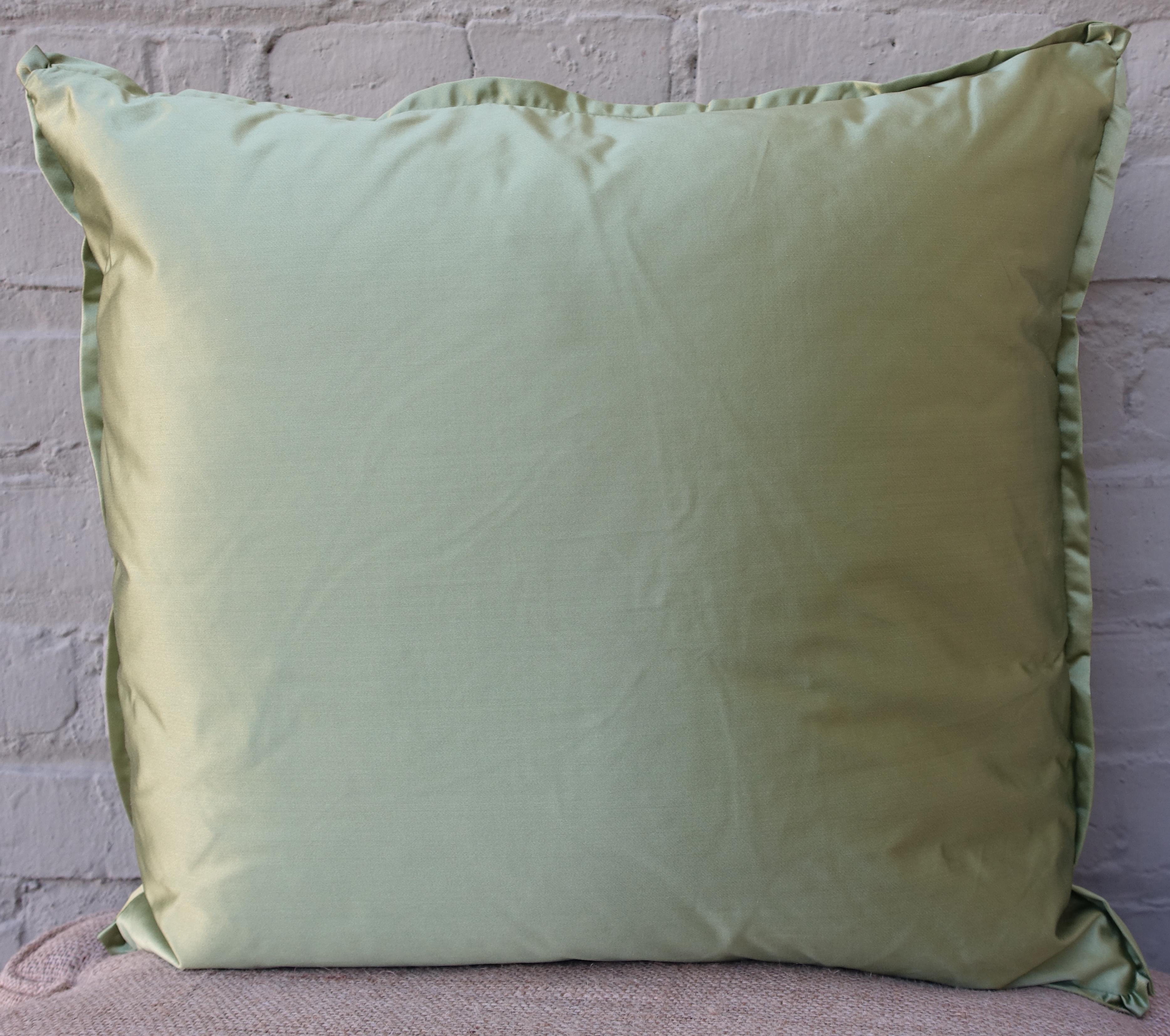 Orsini Green U0026 Gold Fortuny Pillows   A Pair   Image 5 ...