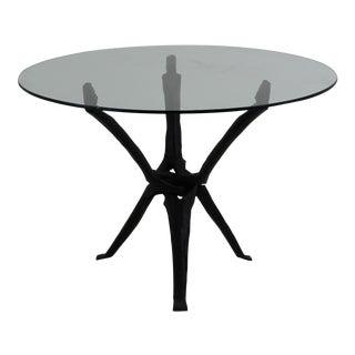 Vintage Hand-Carved Side Table