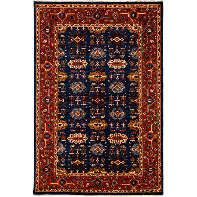 """Traditional Hand Knotted Area Rug - 6'1"""" X 9'2"""" - Image 2 of 4"""