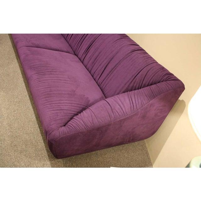 Image of Planum Purple Ultra Suede Sofa