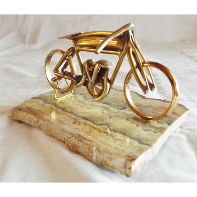 Brass Motorcycle Sculpture Cyclone Racer - Image 5 of 10