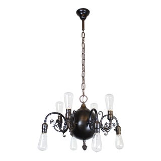 Transitional Style Electric Fixture 1915 8-Light