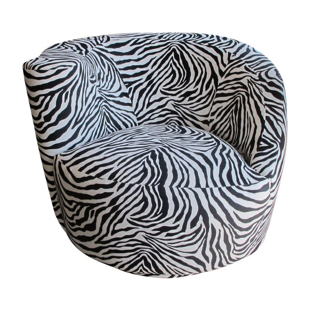 Vladimir Kagan Circular Swivel Chair - Image 1 of 5