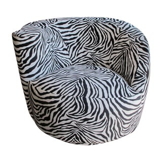 Vladimir Kagan Circular Swivel Chair