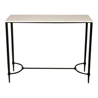 Mismatched Fuller Console With White Marble